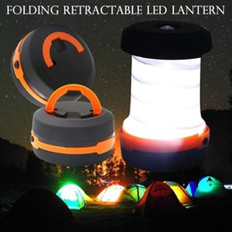 Outdoor 3 Modes Flashlight Retractable LED Tent Camping Lamp LED Lantern For Hiking Emergencies Lighting Folding Torch ZZA302 on Sale