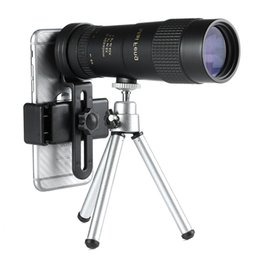 CompaCt tripods online shopping - maifeng x40 monocular telescope Compact Retractable Zoom waterproof bak4 Professional HD ED glass with Tripod Phone clip T191022