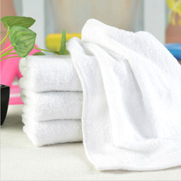 White face toWels online shopping - New Cotton Hand Bath Towel Washcloths Salon Spa Hotel Beach White P10 Compressed CM