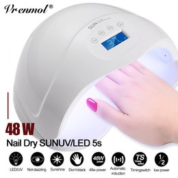 french polish for nails 2019 - Vrenmol 48W Nail Dryer UV LED Lamp Nail Polish Dryers Lamp Fast Cured for French Manicure Machine with USB Art Tools che