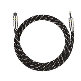 $enCountryForm.capitalKeyWord Australia - spdif Toslink to Mini Plug 3.5mm Optical Fiber Digital Audio SPDIF Gold Plated Connector Round Cable
