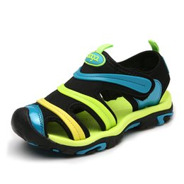 $enCountryForm.capitalKeyWord Australia - Kids Boy Summer Sandals Children Flats Breathable Anti-slippery Boys Girls Closed Toe Slippers Sandalias Fashion Shoes For Child MX190727