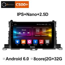 "toyota highlander gps android 2019 - 10.1"" 2.5D Nano IPS Screen Android Octa Core 4G LTE Car Media Player With GPS RDS Radio Bluetooth For Toyota Highla"