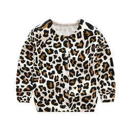 Cardigan T Shirt Australia - J190529Liligirl Baby Leopard Knitted Long Sleeve T-shirt Sweater For Kids Clothes Wear Boys Girls Cardigan Sweaters Cotton Coat J190529