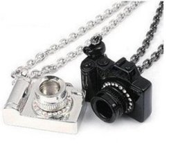 vintage camera pendant Canada - Crystal Camera Necklace Pendants Vintage Silver Black Art Photographer Charms Collar Choker Necklace Jewelry Fashion Women Gift Accessories