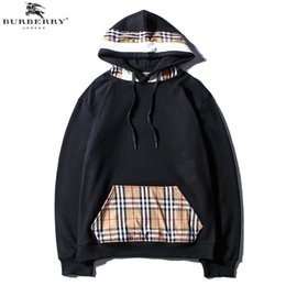 clothing printing london 2019 - Mens Designer Hoodies Fashion Classic Embroidery Letter Cotton England Of London BUR Hoodie Clothing Casual Jackets chea