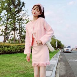 new concept c6b39 660a4 Vestito Rosa Di Modo Coreano Online   Vestito Coreano Di ...