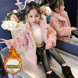Discount girls jacket pattern - New Pattern Clothes Girl Winter Casual Lamb Wool Coat Children's Garment