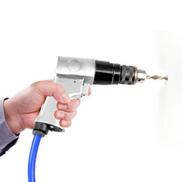 Pneumatic connectors online shopping - 3 Inch rpm High Speed Pistol Type Pneumatic Gun Drill Reversible Air Drill Wrench Connector Tool Floor Wall Hole Drilling