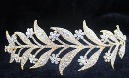 indian bride hair accessories Australia - Alloy set with white diamond bride headdress Korean version of the bride's crown leaves styling hair accessories