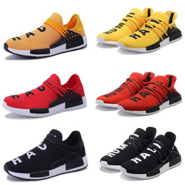 running shoes cheap factory NZ - New factory cheap Human Race HU trail Running Shoes Men Women Pharrell Williams Holi Blank Canvas Equality trainers sports man sneakers foot