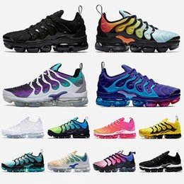 pink shark NZ - Wholesale Top Tn PLUS Cushions New Mens Trainers Hornets Hot Tns Triple White Black Grape Shark Tooth Be True Sliver Womens Sports Sneakers