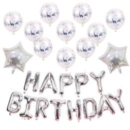 $enCountryForm.capitalKeyWord Australia - Gold 2019 Party Balloons Laser Gold and Silver Star Balloons Laser Pentagon Aluminum Film Balloon Happy Birthday Balloon Set