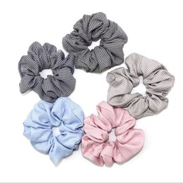 pony girl leather UK - Elastic Hair Bands Plaid Scrunchie Ponytail Holder Ties Fashion Net Plaid Hair Ring Rpoes Women Girls Headwear Hair Accessories