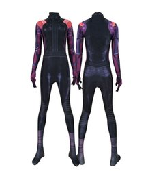 $enCountryForm.capitalKeyWord Australia - Women Moive Alita Battle Angel Sexy 3D Stretch Cosplay Costume Lycar Spandex High Quality Superhero Zentai Party Bodysuit Catsuit Jumpsuit