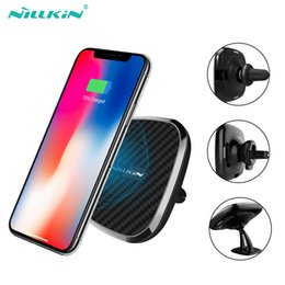Phone Pads online shopping - 10W Qi car wireless charger fast Nillkin in Magnetic Vehicle Mount Phone Holder Pad For iPhone X Plus For Samsung S10 S8