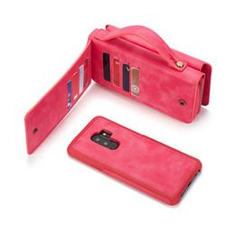 $enCountryForm.capitalKeyWord Australia - Fashion Zipper PU Handbag Case Removable Back Cover Card Slots Purses Stand Case for Samsung Galaxy S10+ S9 S8 S7 S6 S5 S4 Note 4 5 8 9