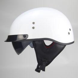 Jet Half Face Helmets Australia - Motorcycle helmet cascos para moto open half face harley casco moto vintage jet capacetes de motociclista with dual lens Visors