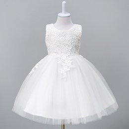 $enCountryForm.capitalKeyWord Australia - 1-8year Toddler Baby Tutu Dress White Red Ball Gown Party Stage Princess Dresses Bridesmaid Flower Girl Clothes Vestido Infantil J190706