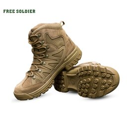 camp shoes for men Australia - FREE SOLDIER Outdoor Sports Tactical Men Boots,Hiking Shoes For Mountain,Shoes For Camping,Climbing Imported Leather #4656