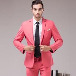 efebf10b4344 Розовый мужской костюм мужской повседневной вечеринки одеваются на заказ  свадебные новые длинные куртки брюки две части