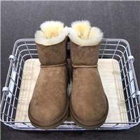 lady snow boots mid calf Australia - Winter Australia UG Satin Bow Women Boots Shoes Suede Leather Wool Mid Calf Ankle Boots Ladies Bailey Bow Snow Boot Waterproof Shoes C101602