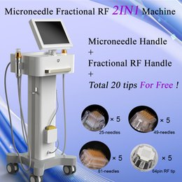 Face liFt gold online shopping - Fractional RF Microneedle Face Care Gold Micro Needle Skin Rollar Acne Scar Stretch Mark Removal Treatment Professional Beauty Salon Machine