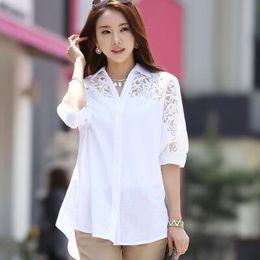 8abdcd288a5 Discount hot office shirts - Fashion 2019 Hot Style Autumn Women Cotton And  Linen Lace Blouse