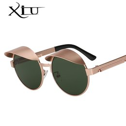 $enCountryForm.capitalKeyWord Australia - XIU Caps Style Round Sunglasses Men Women Brand Designer Vintage Sunglass Steampunk Metal Top Quality Vintage Oculos UV400