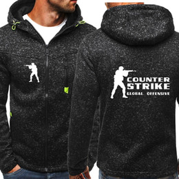 Wholesale Counter Strike Hoodie Spring Hoodie Men Sport Casual Wear Men s Hooded Fleece Jacket Zipper Sweatshirt Male Hoody Cardigan hoodie Tracksuit