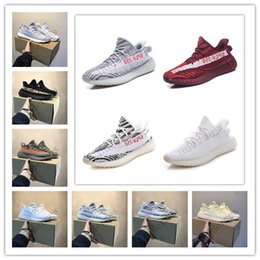 Chinese  With box 2019 new offesa off butter white zebra V2 static sesame cream white whale 2.0 sports men shoes Kanye West Shoes running boy manufacturers