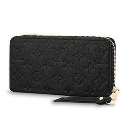 $enCountryForm.capitalKeyWord UK - 2019 Zippy Wallet M61864 Embossing Black Real Caviar Lambskin Chain Flap Bag Long Chain Wallets Key Card Holders Purse Clutches Evening