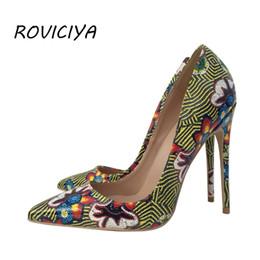 8cba6a7fd5 Flower Women Pumps Sexy Woman High Heel 12 cm Stilettos Pointed Toe Party  Brand Designer Shoes YG019 ROVICIYA