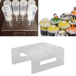 christmas wedding cupcakes Australia - 12-Hole Acrylic Cupcake Cake Muffin Dessert Push Display Stand Holder for Wedding Birthday Party Christmas Decor