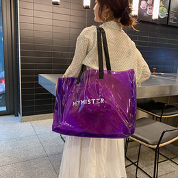 $enCountryForm.capitalKeyWord NZ - PVC Clear Transparent Tote Bags Women Candy Jelly Beach Bags Women Summer Large Transpare Casual Shopping Shoulder June3
