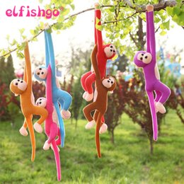 monkey tails wholesale NZ - 60CM Kawaii Long Arm Tail Monkey Stuffed Doll Plush Toys Curtains Baby Sleeping Appease Animal Doll Birthday Gifts