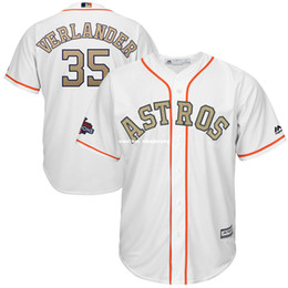 $enCountryForm.capitalKeyWord Australia - Cheap Custom Justin Verlander White 2018 Gold Cool Base jerseys Stitched Retro Mens jerseys Customize any name number XS-5XL