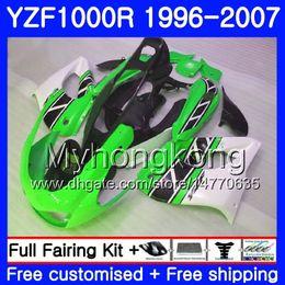 White abs thunderace online shopping - Body For YAMAHA YZF1000R Thunderace HM YZF R YZF R Green white hot Fairing kit