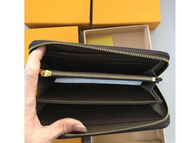 credit card portefeuille UK - portefeuille pour homme long women lady clutch pu leather wallet with box 60015 60017