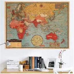 $enCountryForm.capitalKeyWord NZ - Retro World Map Removable Wall Sticker (Multicolor)