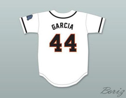 Wholesale rhino black for sale - Group buy Cheap Mens Garcia Rhinos White Baseball Jersey with Patch Black Grey White Stitched Jerseys