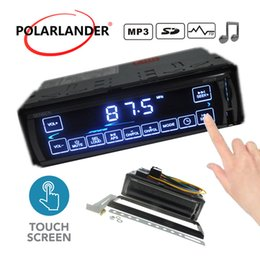 Touch screen music player online shopping - 2 V Car Stereo LCD Touch Screen V Charger In Dash DIN Mp3 Player FM USB SD Card Aux In Music Radio Audio player