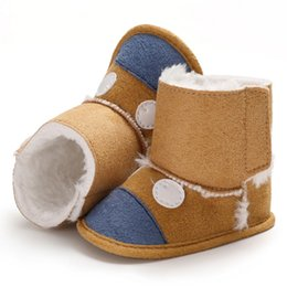 Discount cute baby boy boots - New Fashion Toddler Winter Boots Baby Girl Boy Cotton Boots Casual Cartoon Baby Shoes Newborn Cute Non-slip Soft Sole Sh