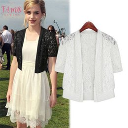 sexy black 4xl shirts Canada - 2020 Plus Size Women Clothing 5Xl 4Xl Xxxl Ladies White Lace Summer Cardigan Coat Black Crochet Sexy Female Blouse Shirt