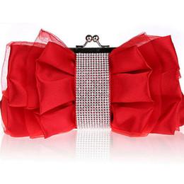 $enCountryForm.capitalKeyWord Australia - good quality Fashion Bow Shape Rhinestone Women Evening Clutch Bags Bridal Flower Female Handbags Chain Wedding Party Hand Bag