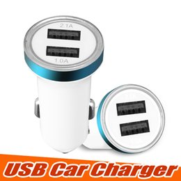 Wholesale Universal Dual USB Car Charger Cell Phone Charger Portable Power Adapter V A Adapter for IOS and Android Cellphones