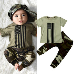 $enCountryForm.capitalKeyWord Australia - Toddler Infant Baby Boys 0-3Y Clothes Sets Tops T-Shirt Camo Long Pants Outfits Sunsuit