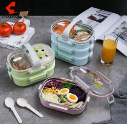 stainless steel insulated lunch box NZ - Stainless steel multi-layer grid sealed lunch box Student child lunch box portable leak-proof insulated lunch box