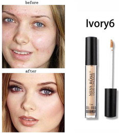 Gif Colors Australia - Dropshipping New Miss rose professional makeup 6 colors concealer 7ml gives skin instant radiance in stock