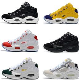 Venta al por mayor de Nueva llegada 2019 hombres zapatillas de deporte mediados de Iverson 1 Allen Iverson zapatos de baloncesto clásicos Buena calidad Zapatillas diseñador zapatillas EE. UU. 7-11